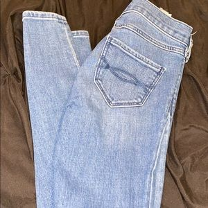 Distressed highwaist Abercrombiekids skinny jeans